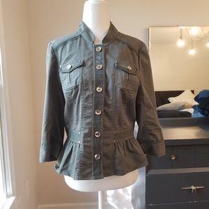 WHBM army green utility jacket